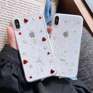NEW iPhone 11/Pro/Max/XR/7/8/Plus Heart Star case